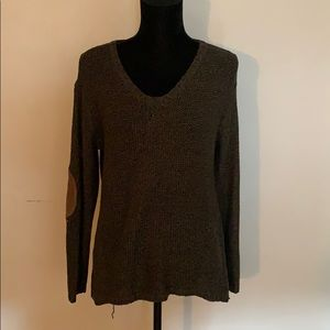 Green Elbow Patch Sweater